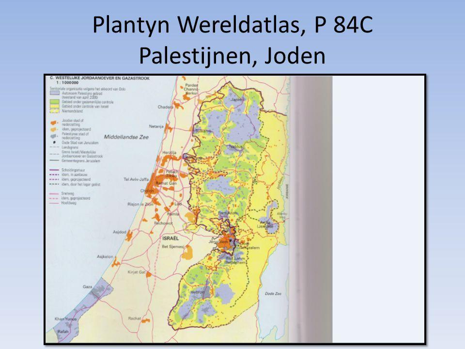 Plantyn Wereldatlas, P 84C Palestijnen, Joden