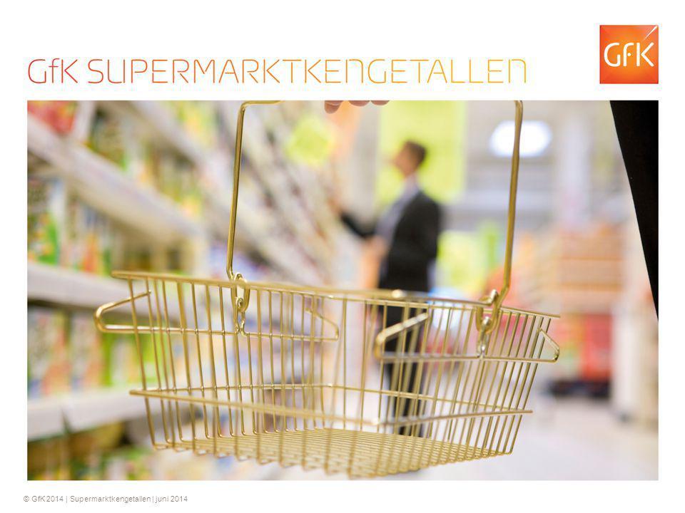 2 Samenvatting GfK Kengetallen Supermarkten De supermarktomzet in mei is met 3.9% gedaald van € 2,66 miljard in mei 2013 naar € 2,56 miljard in mei 2014.