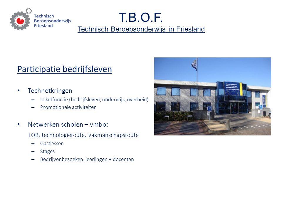 T.B.O.F. Technisch Beroepsonderwijs in Friesland Participatie bedrijfsleven Technetkringen – Loketfunctie (bedrijfsleven, onderwijs, overheid) – Promo