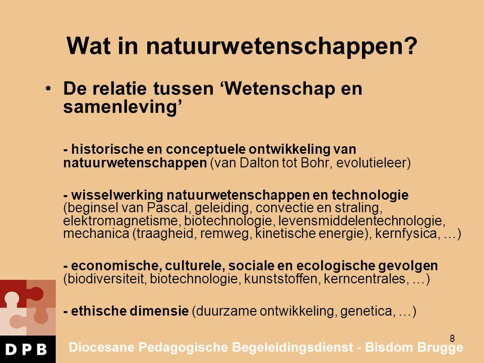 9 Wat in natuurwetenschappen.