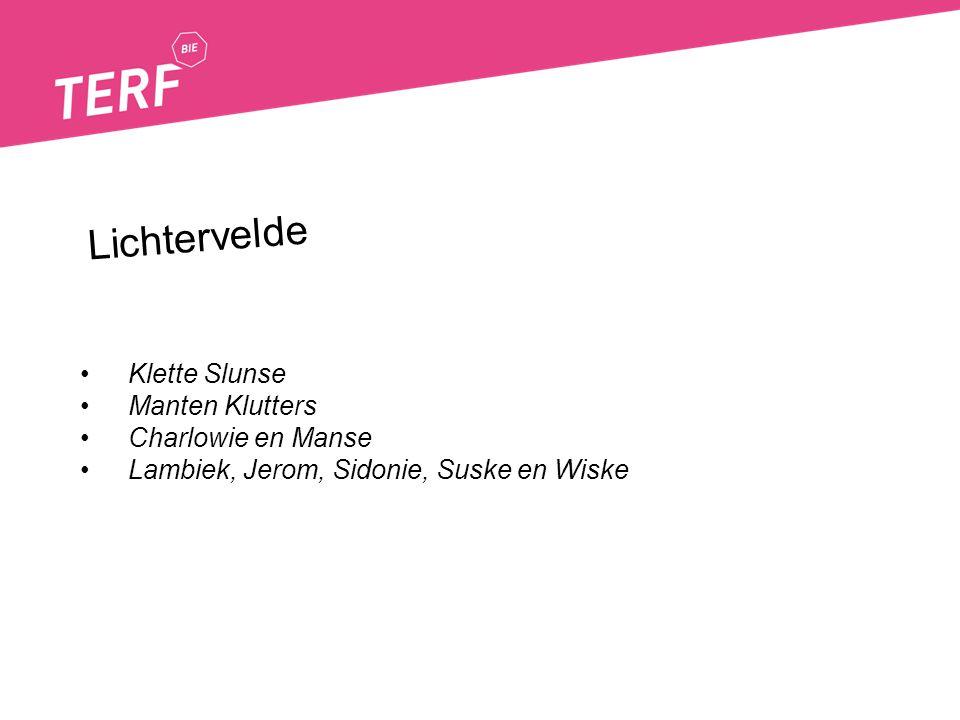 Klette Slunse Manten Klutters Charlowie en Manse Lambiek, Jerom, Sidonie, Suske en Wiske Lichtervelde