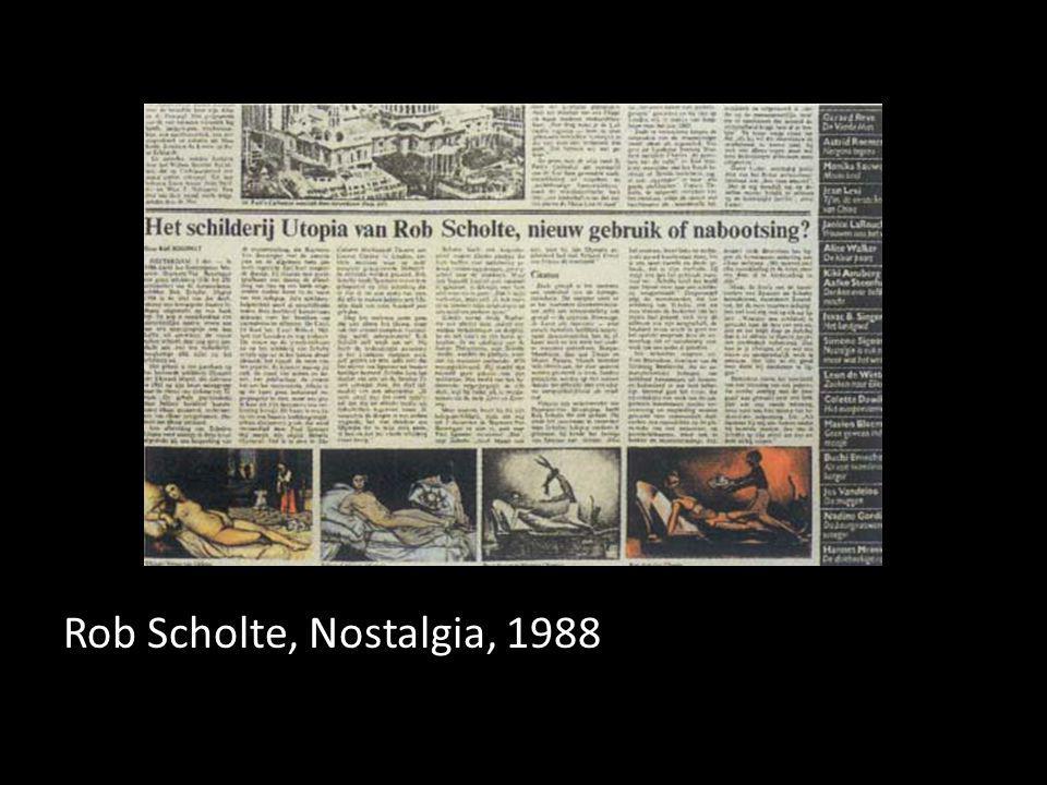 Rob Scholte, Nostalgia, 1988