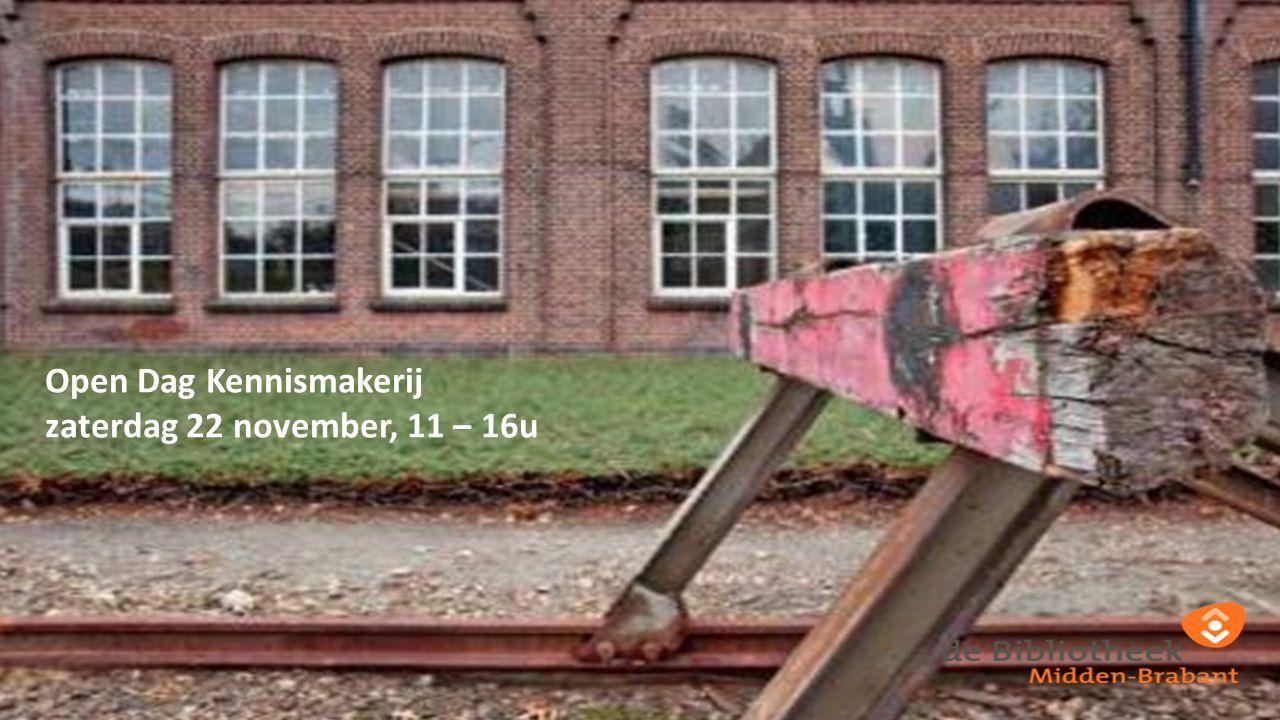 Open Dag Kennismakerij zaterdag 22 november, 11 – 16u