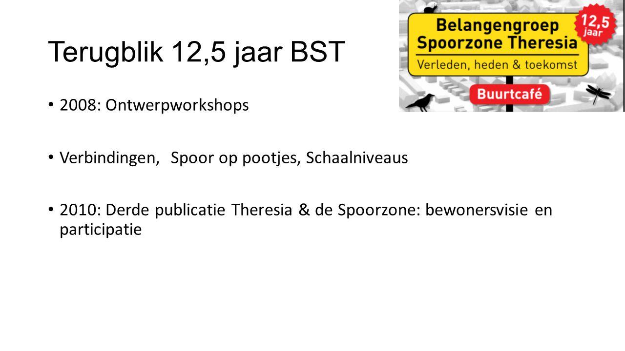 2008: Ontwerpworkshops Verbindingen, Spoor op pootjes, Schaalniveaus 2010: Derde publicatie Theresia & de Spoorzone: bewonersvisie en participatie