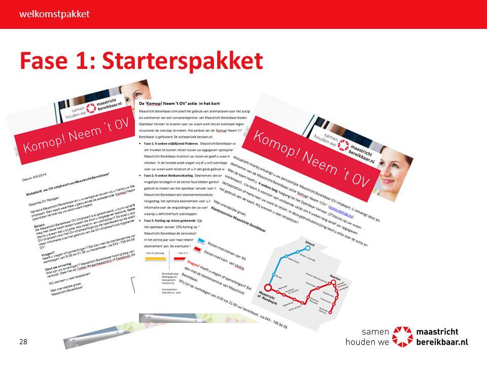 Fase 1: Starterspakket welkomstpakket 28