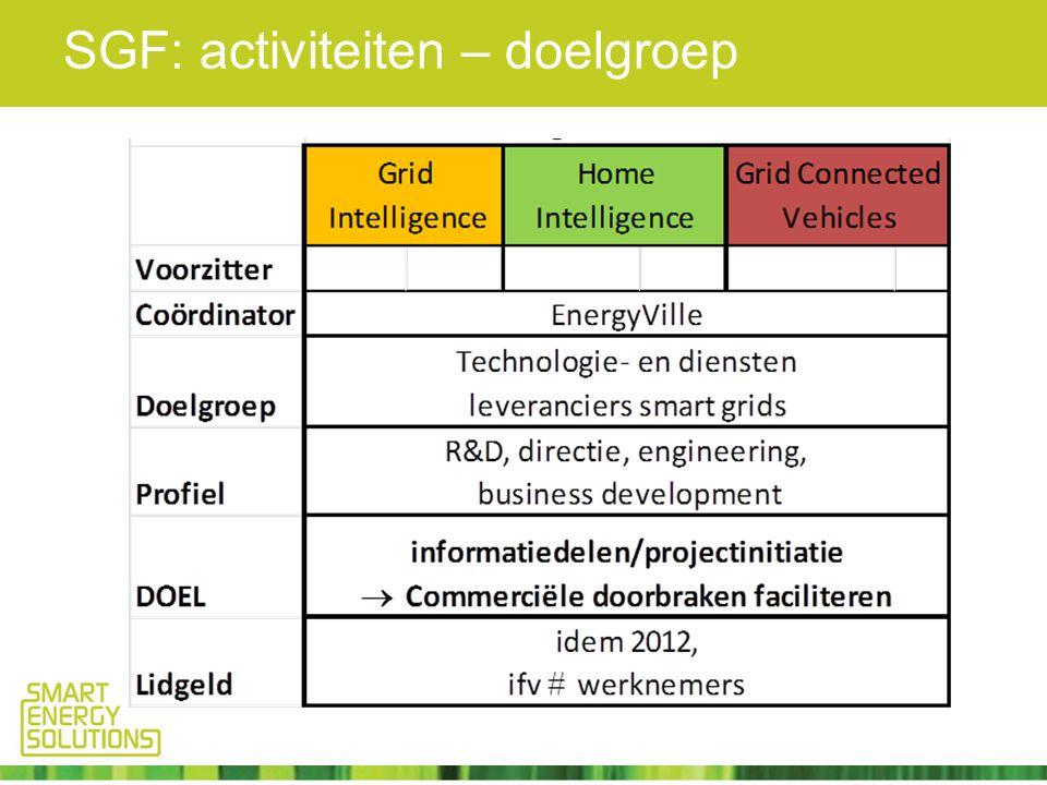 SGF: activiteiten – doelgroep