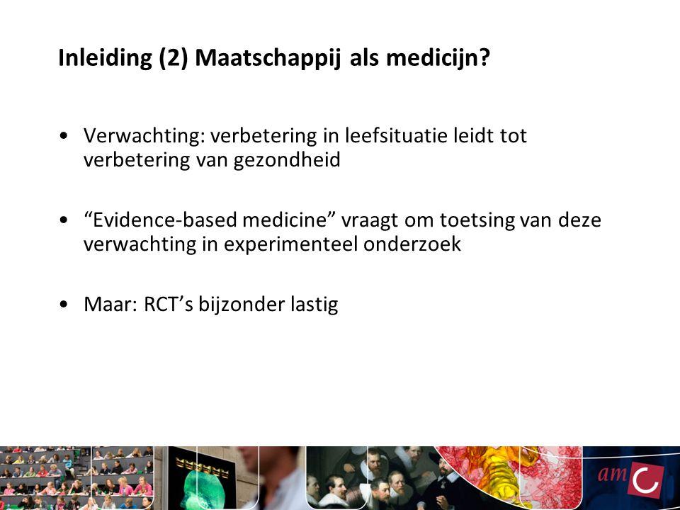 Inleiding (2) Maatschappij als medicijn.