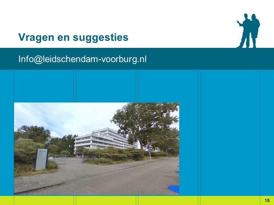 Vragen en suggesties Info@leidschendam-voorburg.nl 15