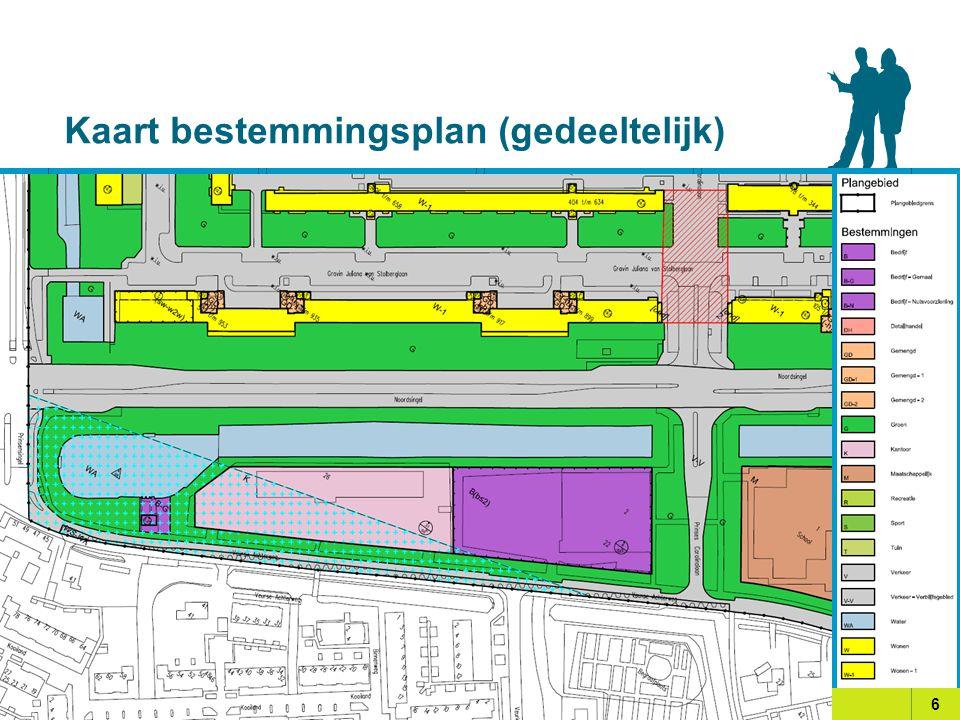 Kaart bestemmingsplan (gedeeltelijk) 6