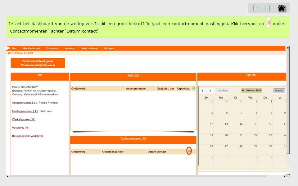 Zie je welke gegevens je kunt vastleggen bij de registratie van een contactmoment.