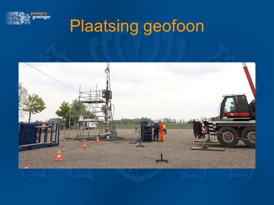 Plaatsing geofoon