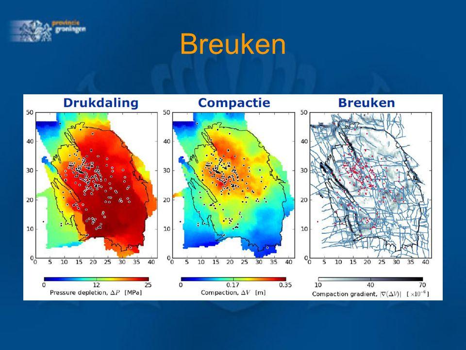 Bodemdaling en aardbevingen Huidige bodemdaling: ca. 30 cm Kan oplopen tot 41 – 62 cm