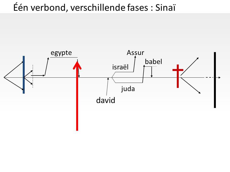 Één verbond, verschillende fases : Sinaï david israël juda egypteAssur babel