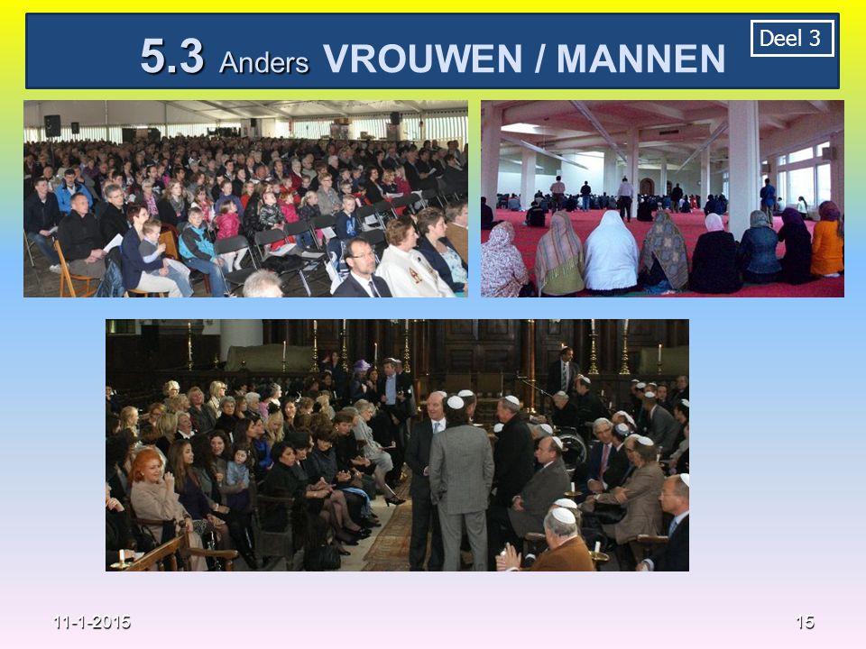 15 11-1-2015 5.3 Anders 5.3 Anders VROUWEN / MANNEN Deel 3