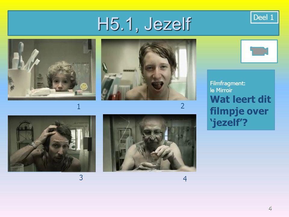 5 Filmfragment: Identiteit 1.Bijkijk het filmfragment en maak een woordspin 2.