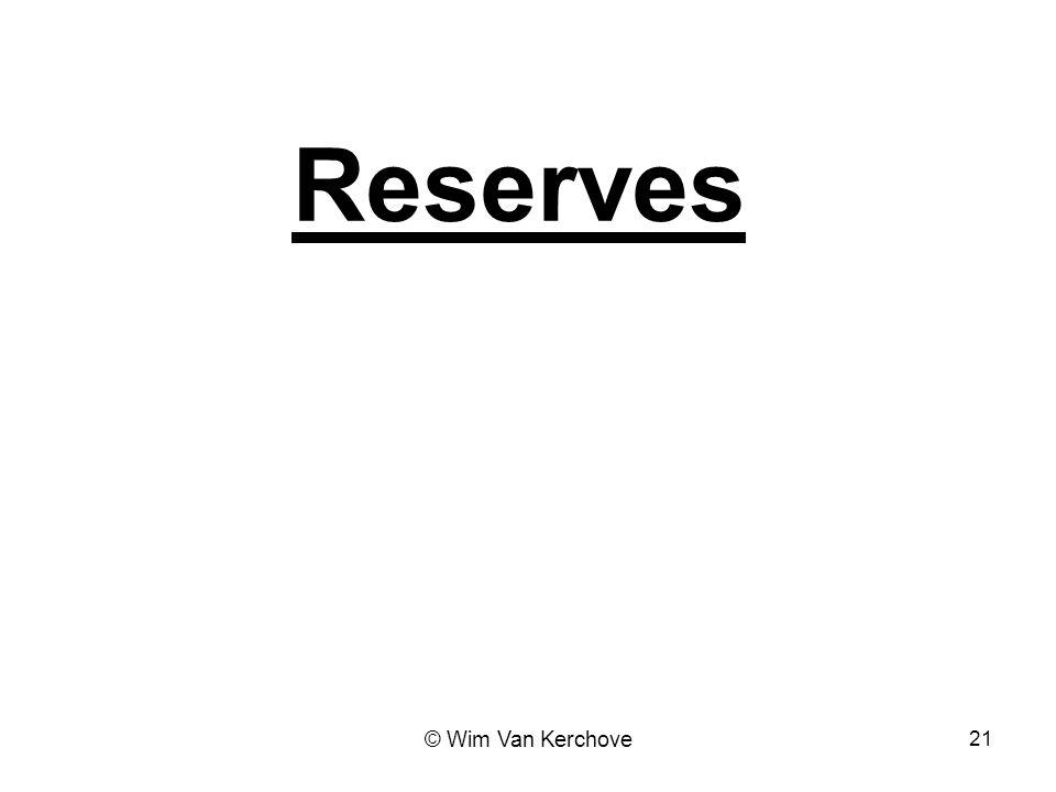 Reserves 21 © Wim Van Kerchove