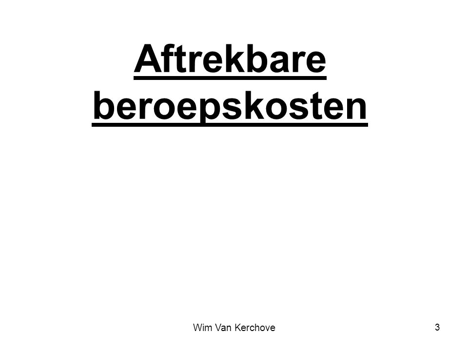 Sociale voordelen Van Kerchove Wim 44