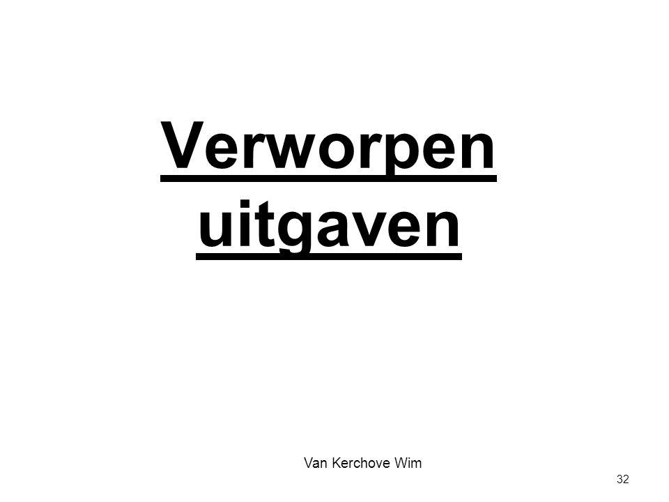 Verworpen uitgaven Van Kerchove Wim 32