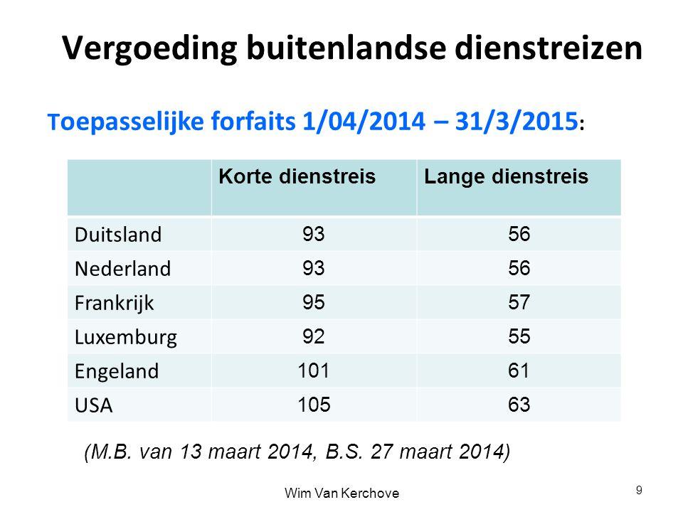 Vergoeding buitenlandse dienstreizen T oepasselijke forfaits 1/04/2014 – 31/3/2015 : 9 9 Korte dienstreisLange dienstreis Duitsland 9356 Nederland 935