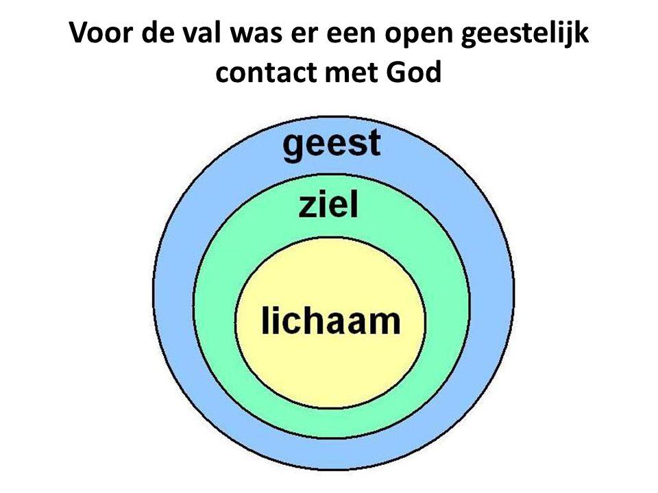 Voor de val was er een open geestelijk contact met God