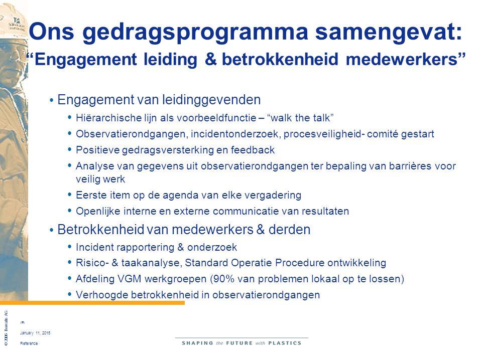 """Reference © 2006 Borealis AG 16 January 11, 2015 Ons gedragsprogramma samengevat: """"Engagement leiding & betrokkenheid medewerkers"""" Engagement van leid"""