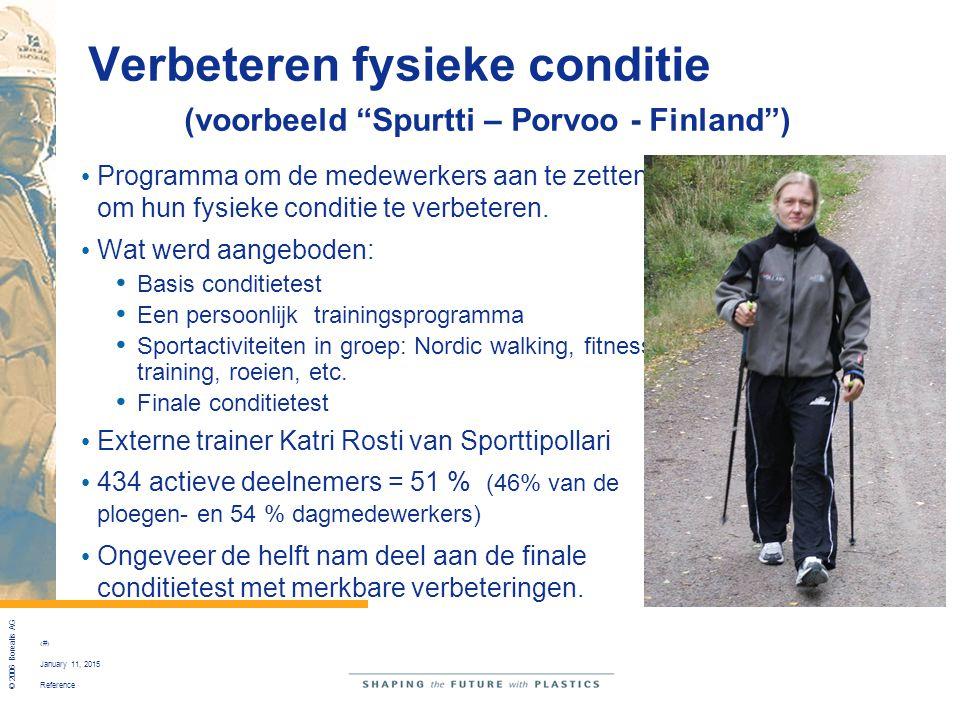 """Reference © 2006 Borealis AG 21 January 11, 2015 Verbeteren fysieke conditie (voorbeeld """"Spurtti – Porvoo - Finland"""") Programma om de medewerkers aan"""