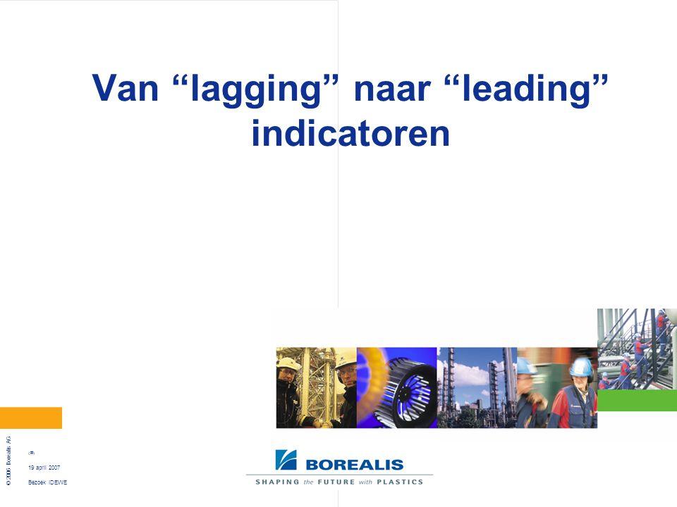 """Bezoek IDEWE © 2006 Borealis AG 22 19 april 2007 Van """"lagging"""" naar """"leading"""" indicatoren"""
