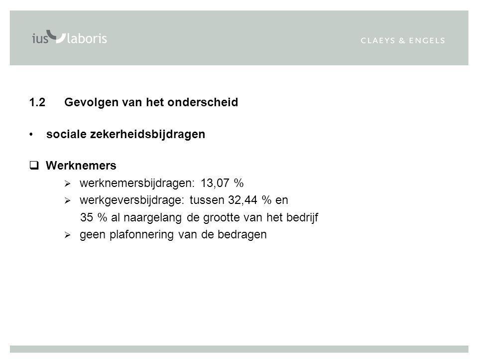 q Bijdragen zelfstandigen in hoofdberoep (2007)  van 0 tot 47.830,21 EUR: 19,65 %  van 47.830,21 EUR tot 70.492,18 EUR: 14,16 %  plafonnering op 70.492,18 EUR  maximale bijdrage bedraagt bijgevolg 3.151,89 EUR per kwartaal (exclusief beheerskosten), d.w.z.