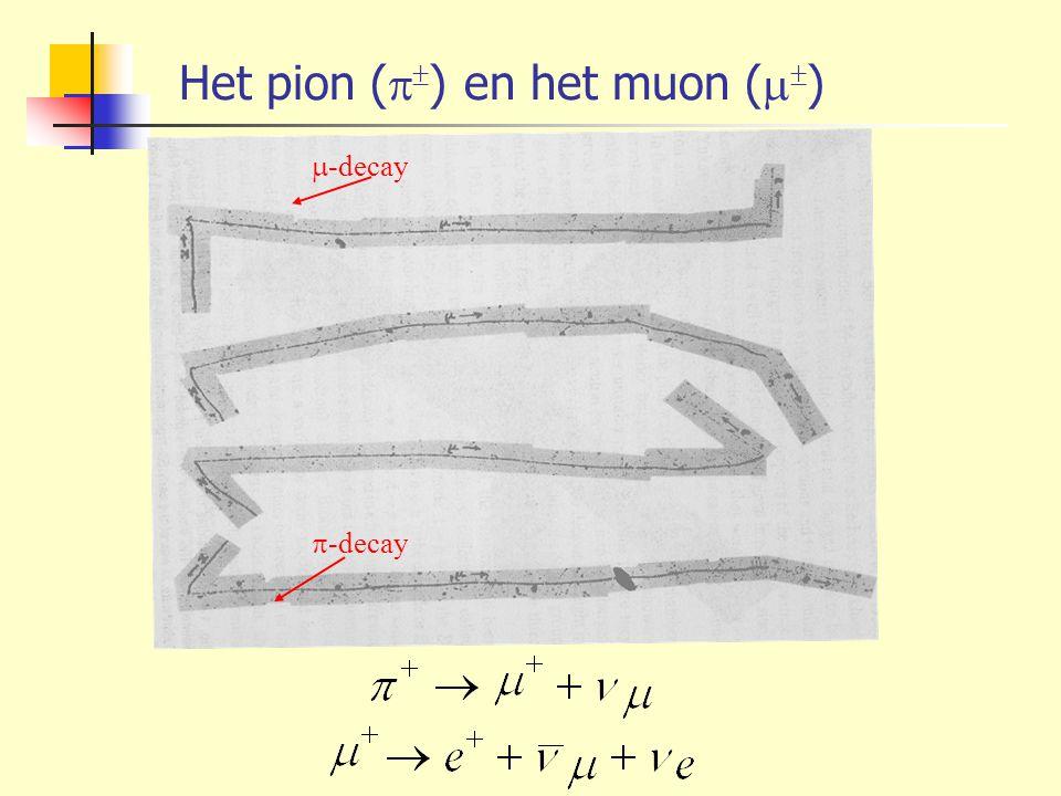 Het pion (   ) en het muon (   )  -decay  -decay
