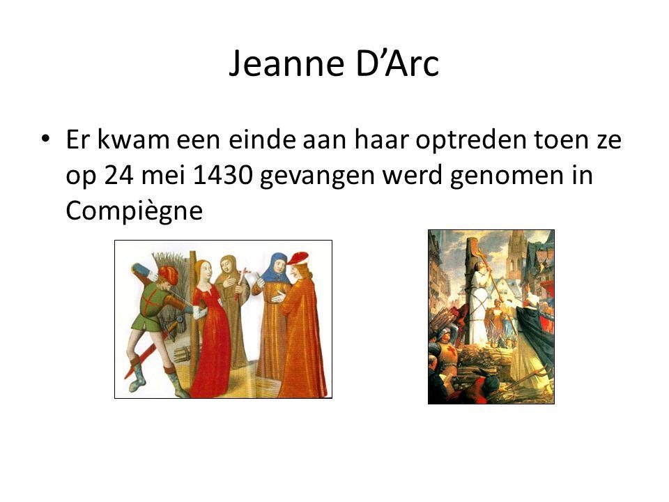 Jeanne D'Arc Anekdote – Tijdens WO II werd Frankrijk bezet door Duitsland – De Franse verzetsorganisatie nam het Lotharingse kruis (oorspronkelijk het symbool van Jeanne D'Arc) als symbool omdat zij dezelfde strijd streed (namelijk de bevrijding van het land van een vreemde overheerser)