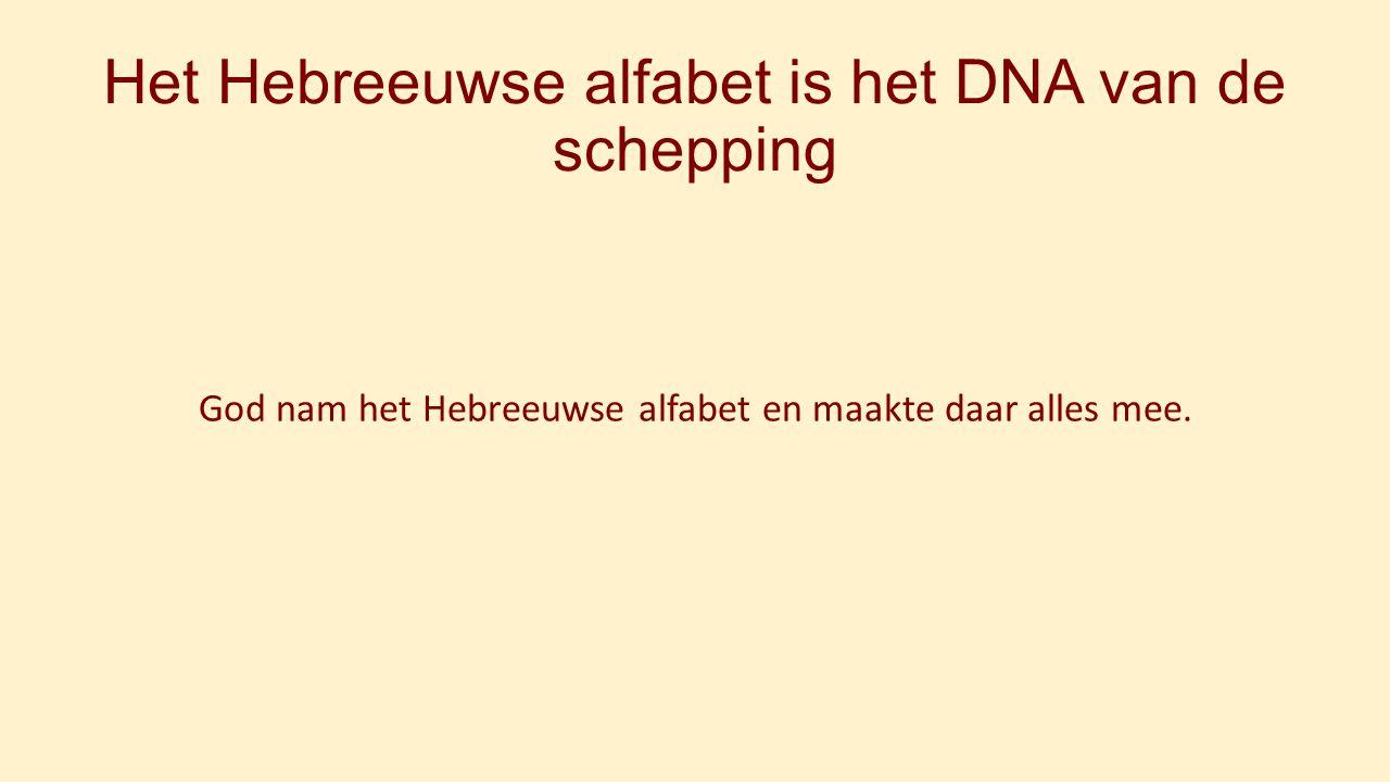 Het Hebreeuwse alfabet is het DNA van de schepping God nam het Hebreeuwse alfabet en maakte daar alles mee.