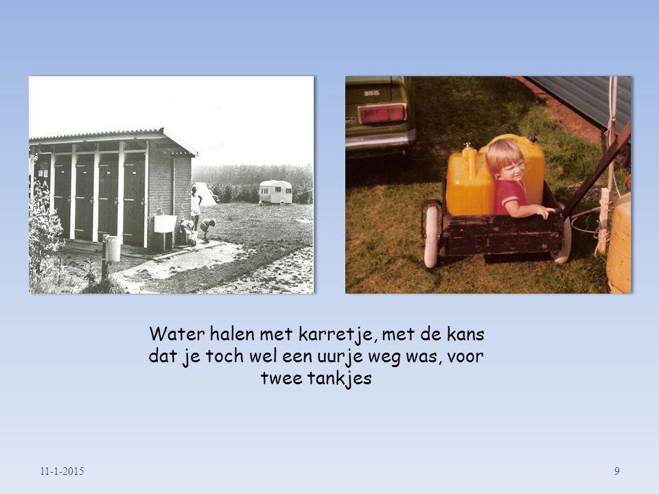 Water halen met karretje, met de kans dat je toch wel een uurje weg was, voor twee tankjes 11-1-20159