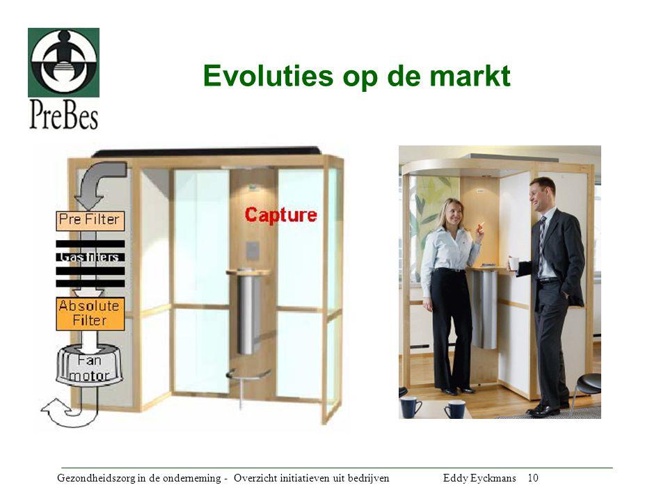 Gezondheidszorg in de onderneming - Overzicht initiatieven uit bedrijven Eddy Eyckmans 10 Evoluties op de markt
