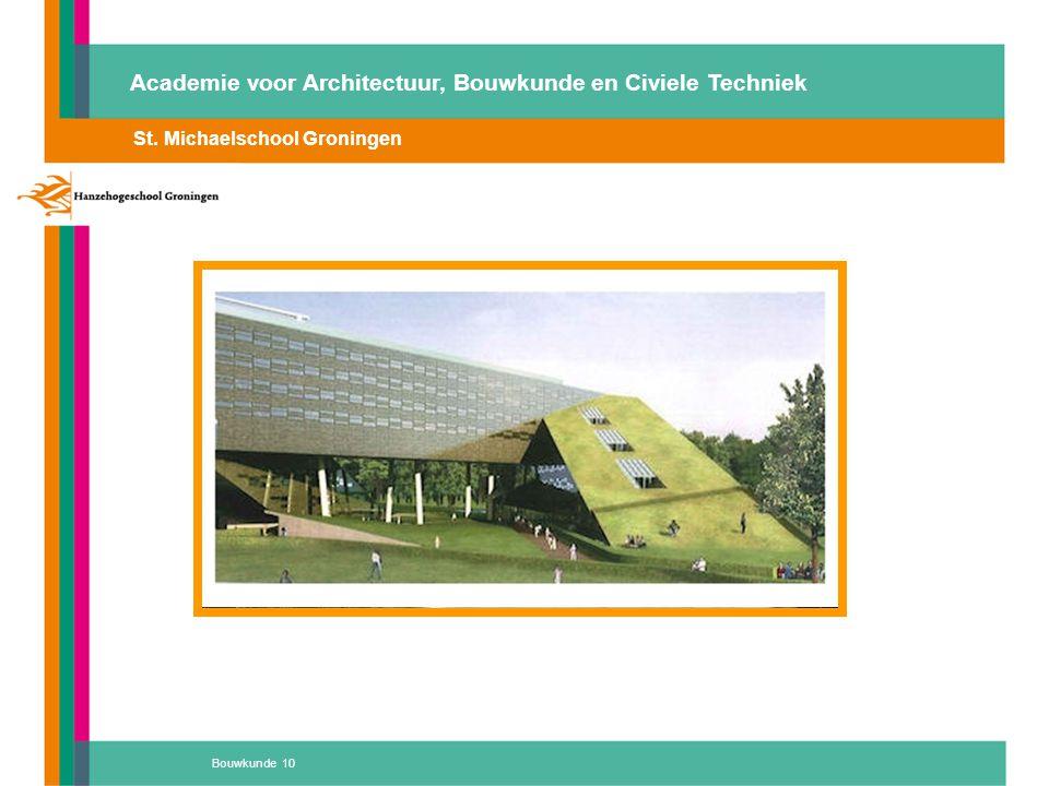 Bouwkunde 10 St. Michaelschool Groningen Ter Apel, basisschool 'de Vlinder', energiebesparing en een goed binnenmilieu prijs 2008 Academie voor Archit