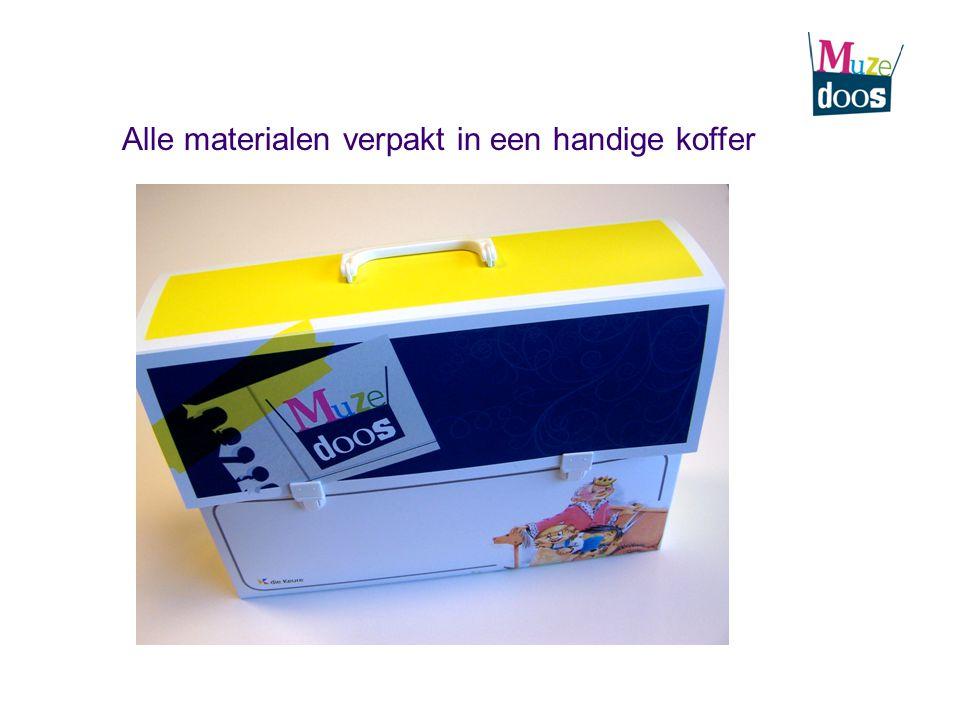 Alle materialen verpakt in een handige koffer