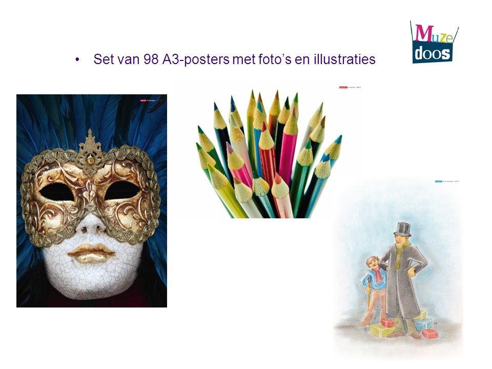 Set van 98 A3-posters met foto's en illustraties
