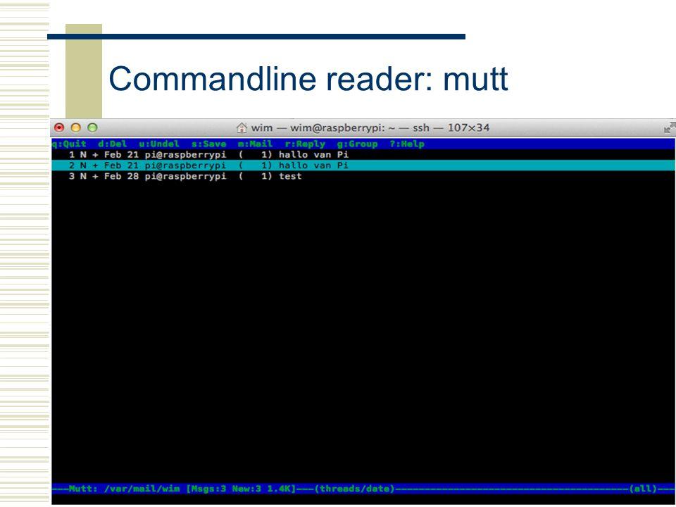 Raspberry-Pi27 Commandline reader: mutt