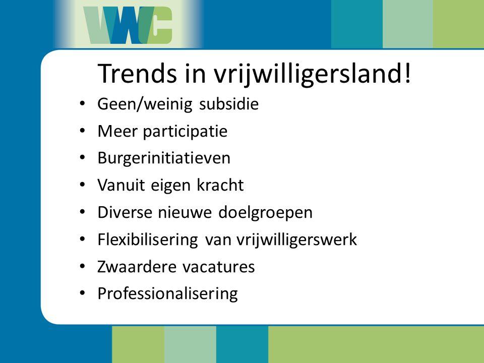 Trends in vrijwilligersland.