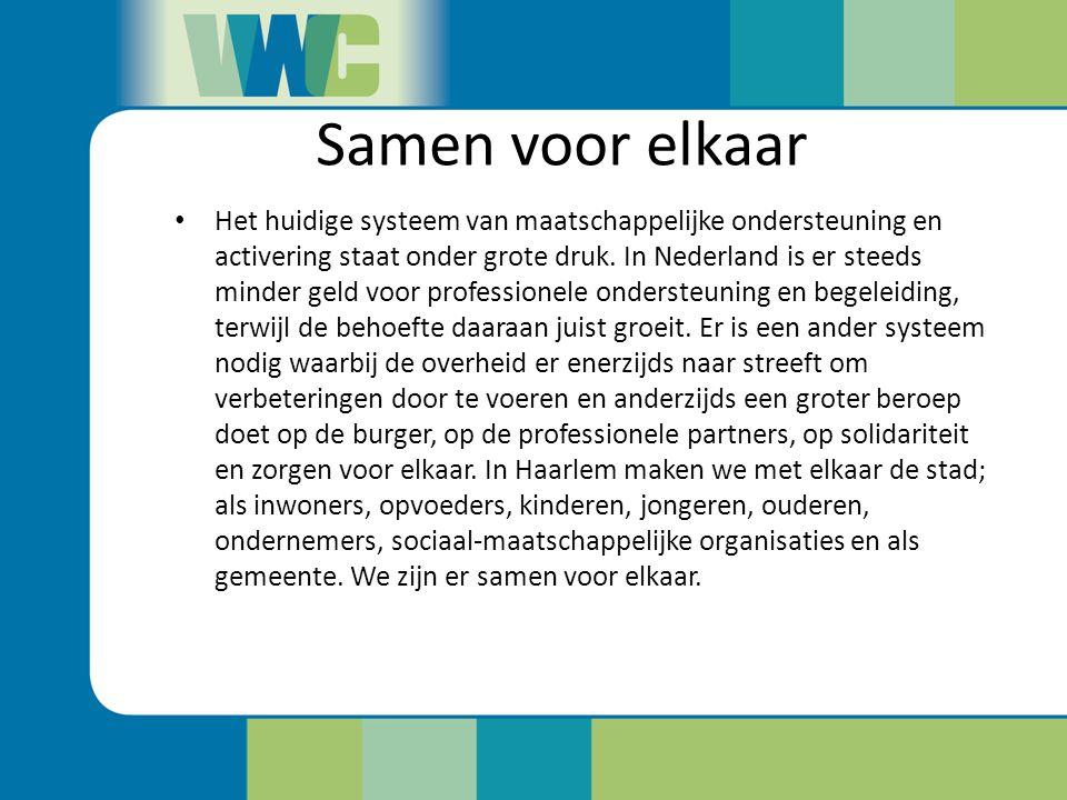 Wat betekent samen voor elkaar voor Haarlemmers.