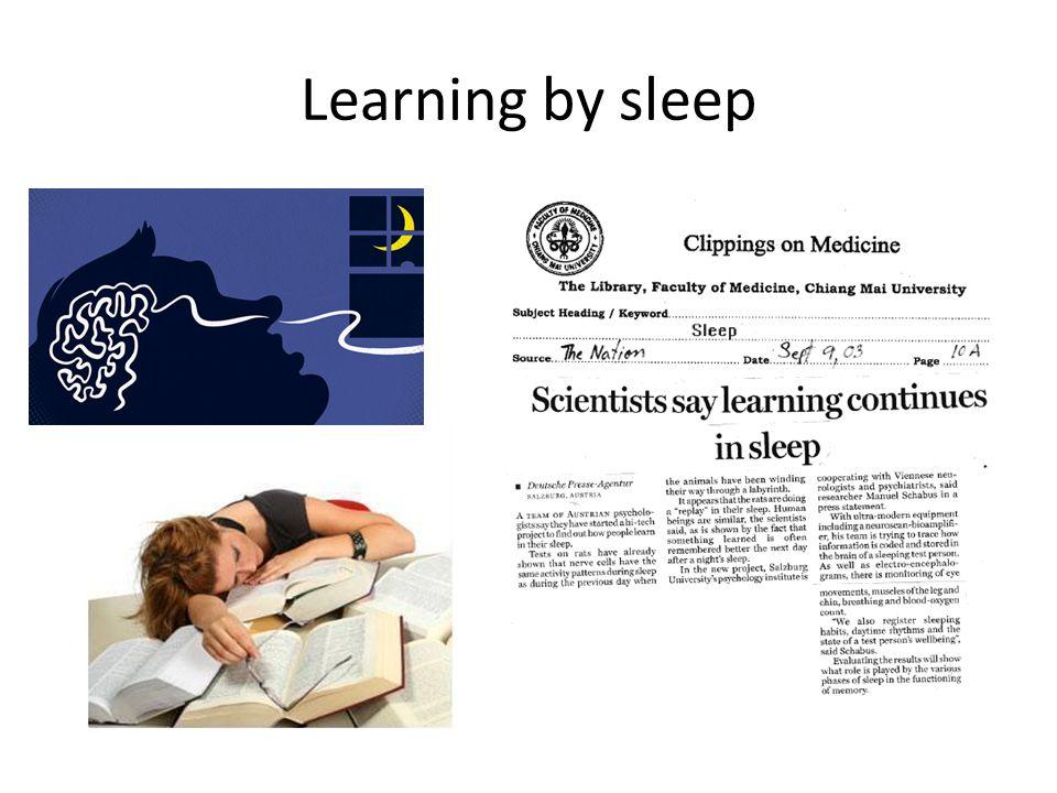 Learning by sleep