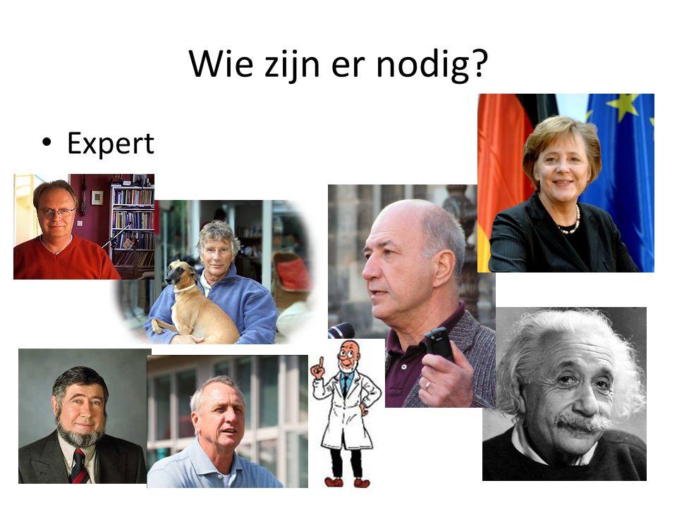Wie zijn er nodig? Expert