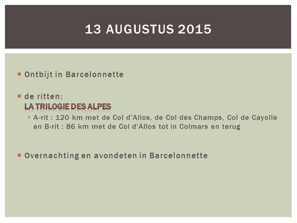 13 AUGUSTUS 2015