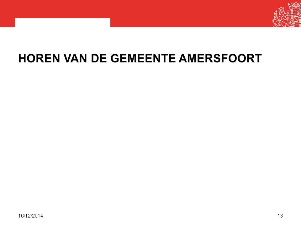 HOREN VAN DE GEMEENTE AMERSFOORT 16/12/201413