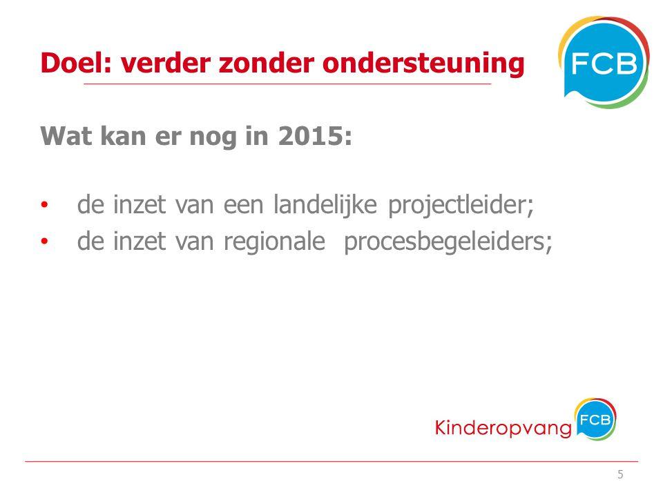 Doel: verder zonder ondersteuning Wat kan er nog in 2015: de inzet van een landelijke projectleider; de inzet van regionale procesbegeleiders; het onderhoud en de hosting van de website www.koenmbo.nl 6