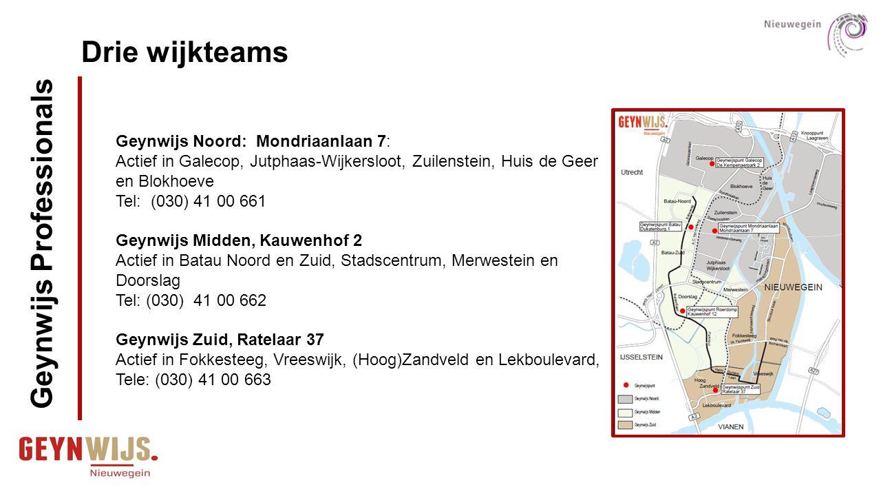 Geynwijs Noord: Mondriaanlaan 7: Actief in Galecop, Jutphaas-Wijkersloot, Zuilenstein, Huis de Geer en Blokhoeve Tel: (030) 41 00 661 Geynwijs Midden,