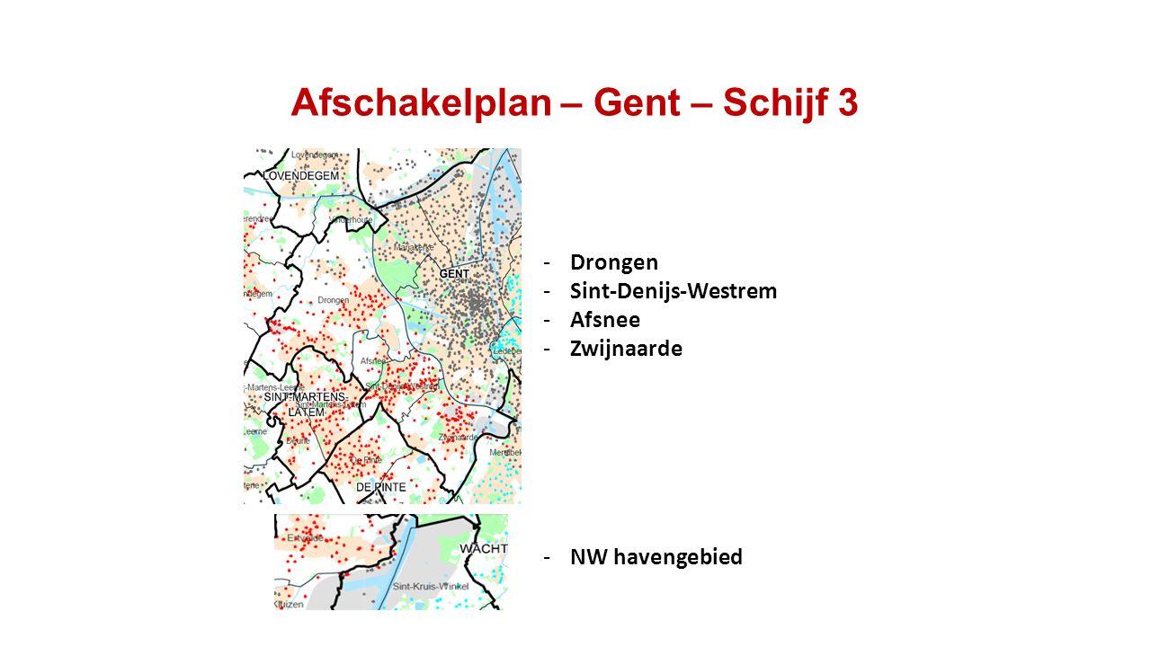 Afschakelplan – Gent – Schijf 3 -Drongen -Sint-Denijs-Westrem -Afsnee -Zwijnaarde -NW havengebied