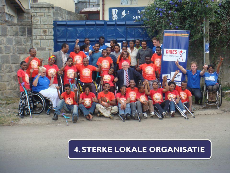 4. STERKE LOKALE ORGANISATIE