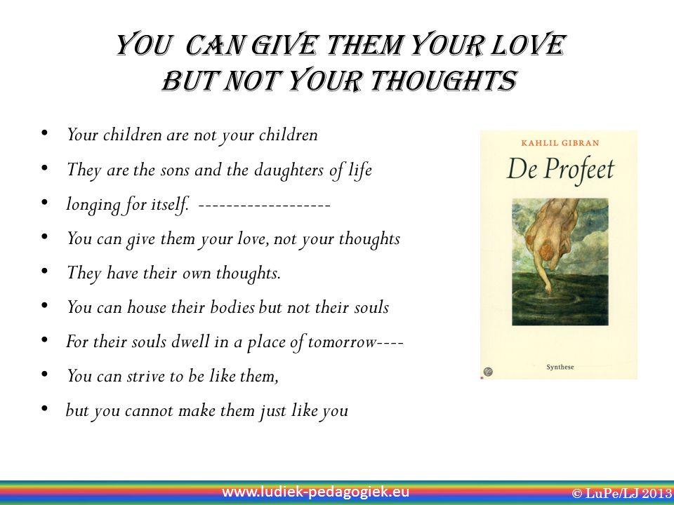 LuPe: Ludiek Pedagogiek Hoe kun je * gevoel voor intuïtie ontwikkelen.