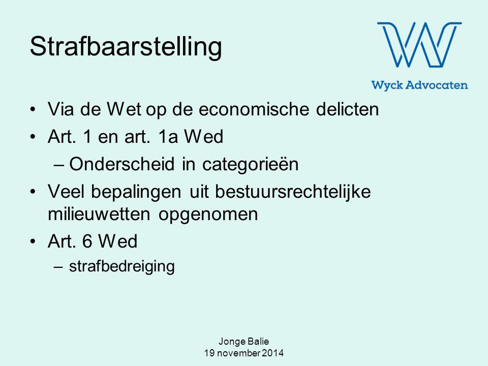 Jonge Balie 19 november 2014 mr. L.E.M. Hendriks hendriks@wyck-advocaten.nl www.wyck-advocaten.nl