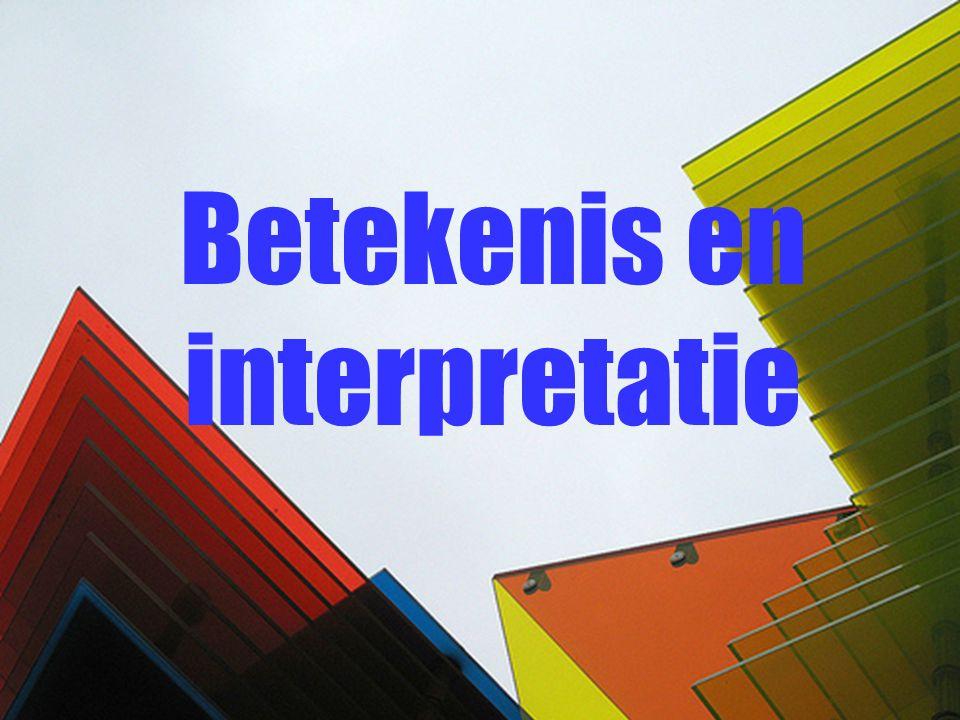 Betekenis en interpretatie